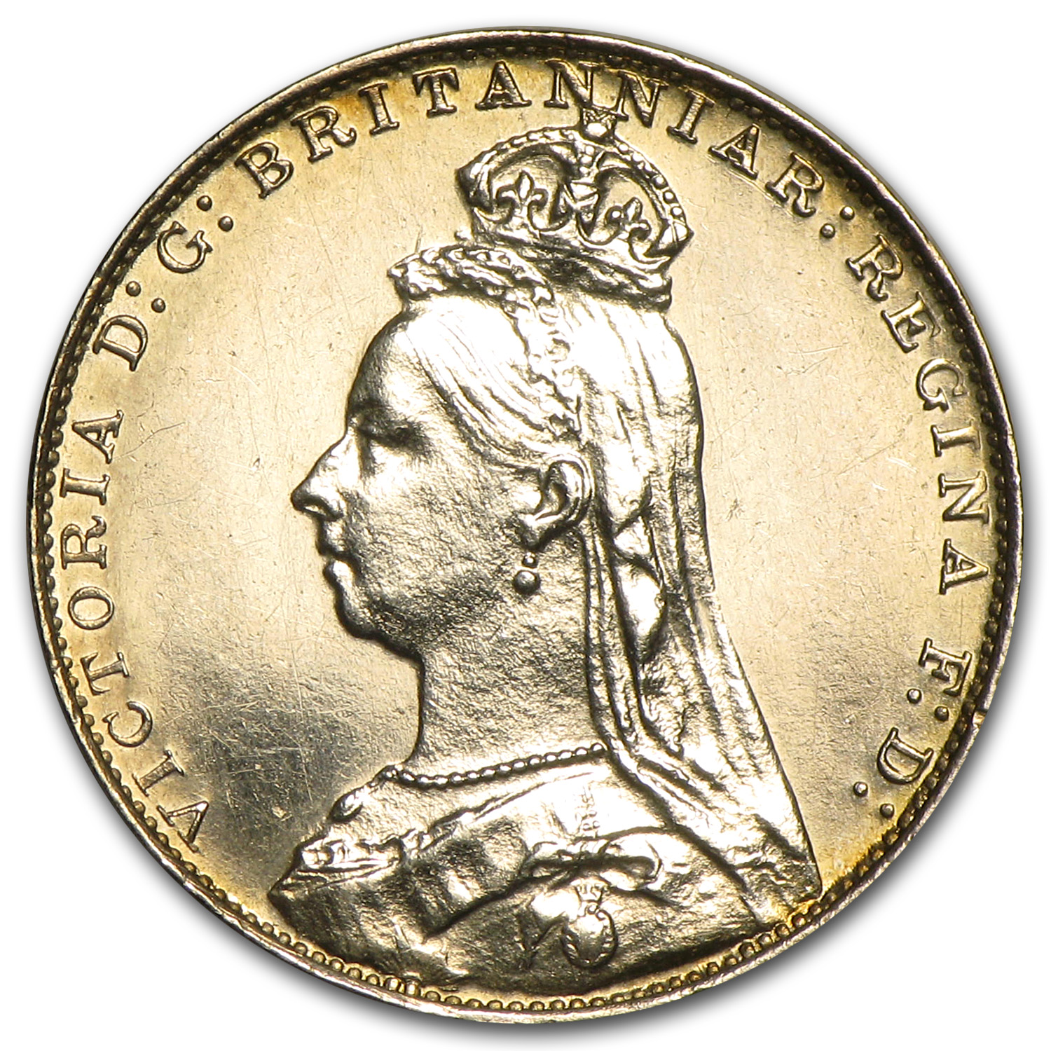 Great Britain 1889 Maundy Silver 4 Pence Victoria P/L